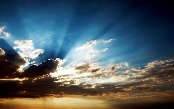 Fondos de pantalla Las nubes con rayos de sol