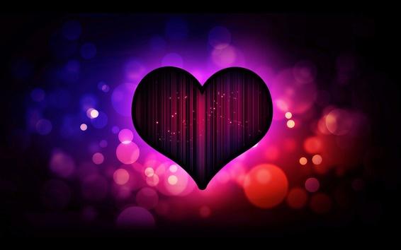 Wallpaper Dark purple heart love