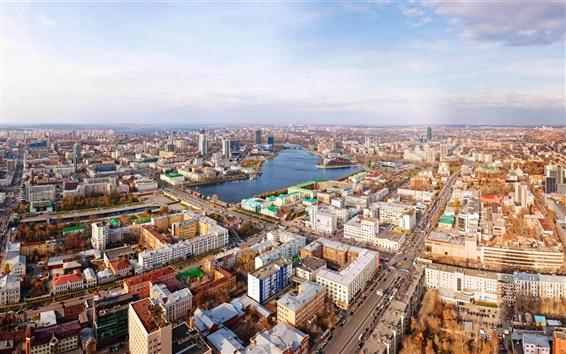 Papéis de Parede Ekaterinburg panorama da cidade de rua