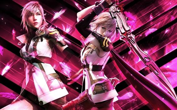 Обои Final Fantasy фиолетовый стиль