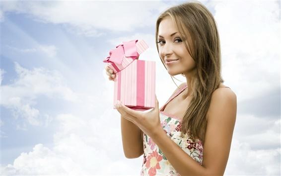 Fond d'écran Fille sourire vacances cadeau