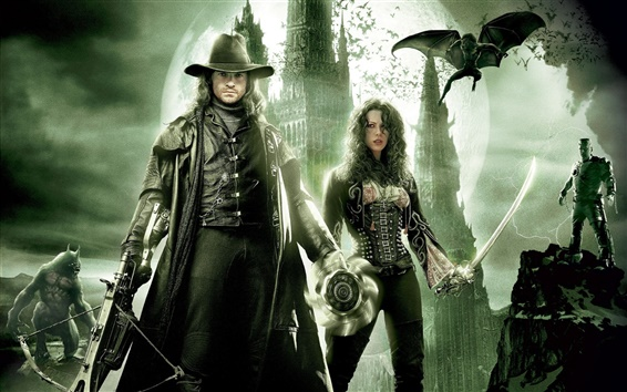 Wallpaper Hugh Jackman and Kate Beckinsale in Van Helsing
