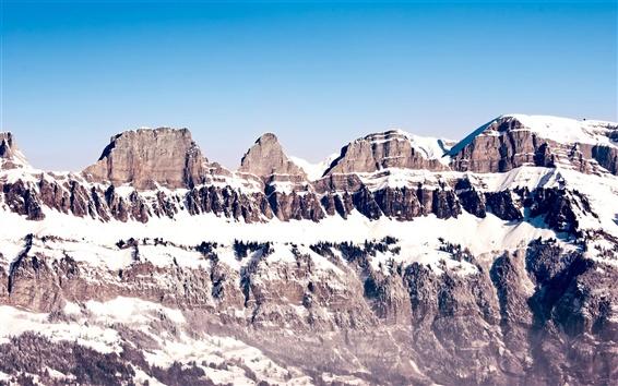 Wallpaper Landscape nature sky snow mountains