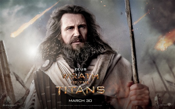 Wallpaper Liam Neeson in Wrath of the Titans