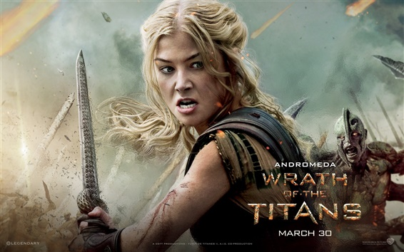 Wallpaper Rosamund Pike in Wrath of the Titans