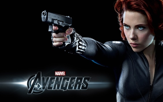 Wallpaper Scarlett Johansson in The Avengers