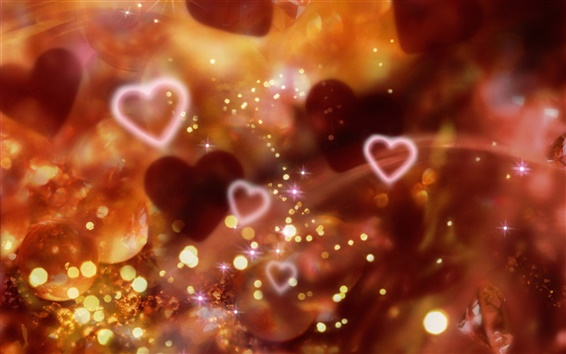 Hintergrundbilder Glänzend rote Herzen