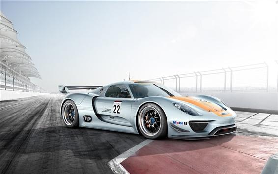 Обои Супер спортивный автомобиль на трассе