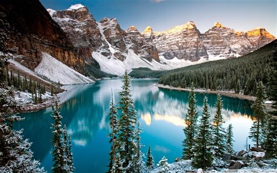Fondos de pantalla Invierno lago en Alberta, Canadá