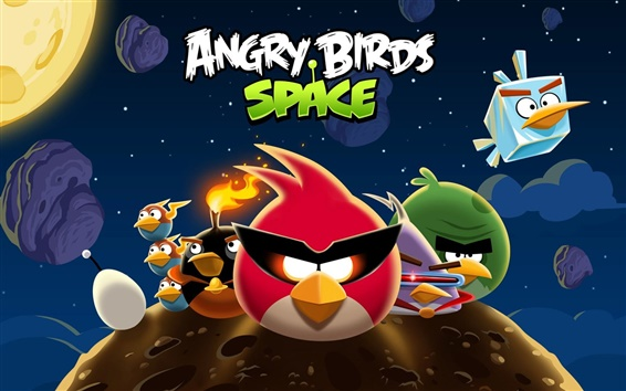 Wallpaper Angry Birds Space