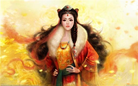 Обои Искусство фантазий боевыми искусствами девушке