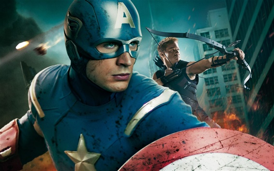 Wallpaper Captain America in The Avengers HD