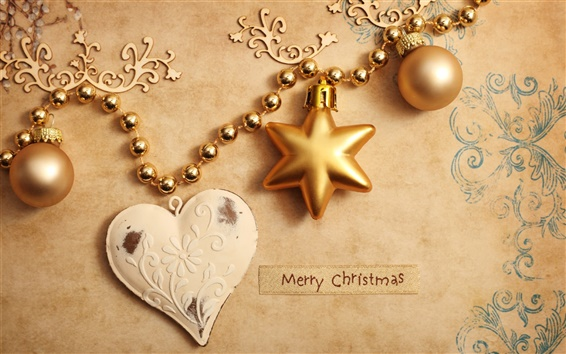 Wallpaper Christmas ornaments