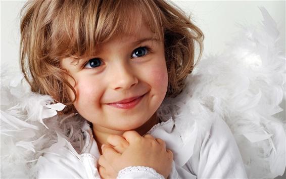 배경 화면 귀여운 소녀 달콤한 미소
