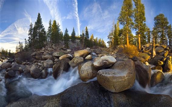 Wallpaper Mountain streams and stone landscape