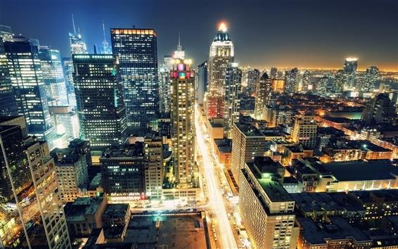 배경 화면 뉴욕의 야간 조명