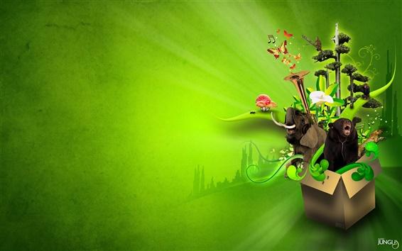 Wallpaper Audio Jungle creative picture
