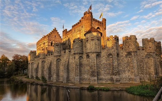 Wallpaper Belgium castle moat