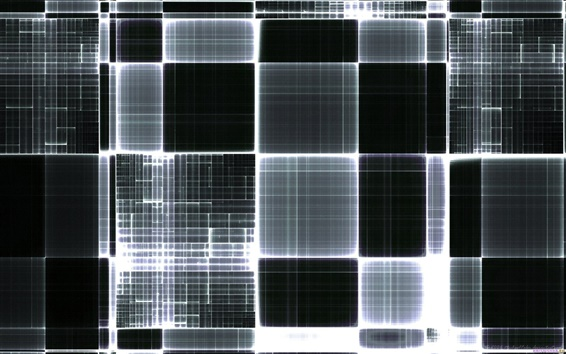 Wallpaper Black and white grid abstract