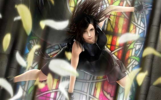 Обои Черная юбка аниме девочка танцует