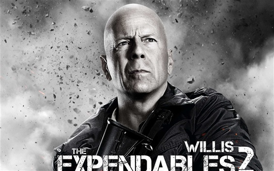 Wallpaper Bruce Willis in The Expendables 2