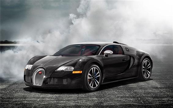 Fond d'écran Bugatti supercar fumée