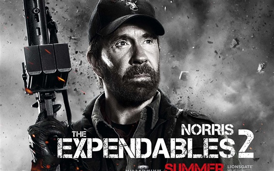 Wallpaper Chuck Norris in The Expendables 2