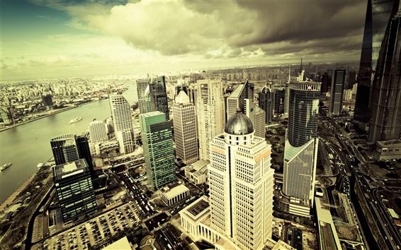 Papéis de Parede Cidade céu panorama arranha-céus