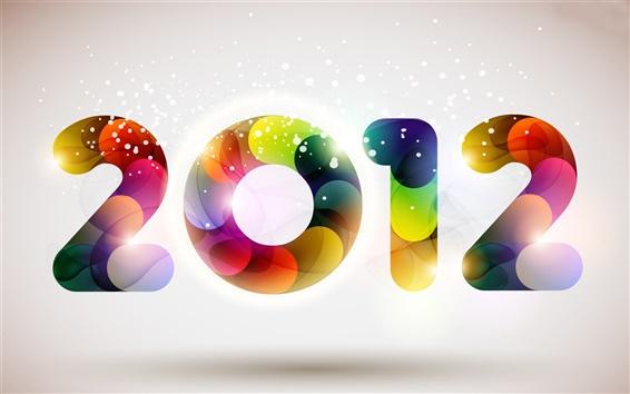 배경 화면 다채로운 수채화 2012