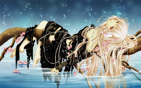 Wallpaper Elegant anime girl