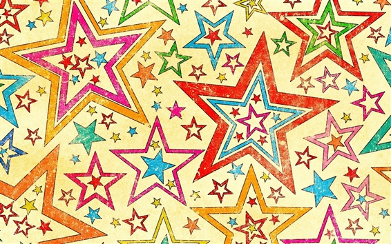 Wallpaper Five-pointed star abstract background