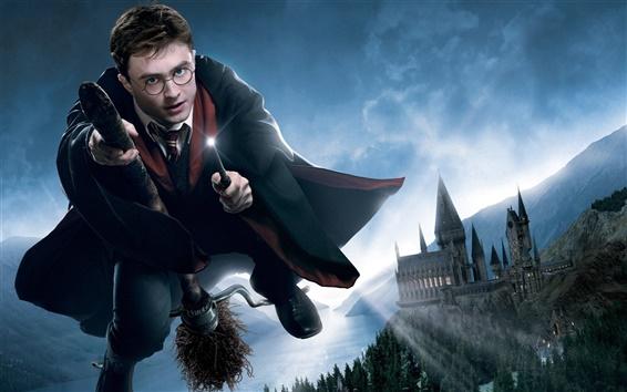 Wallpaper Flying in the sky of Harry Potter