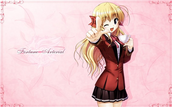 Wallpaper Fortune Arterial anime girl