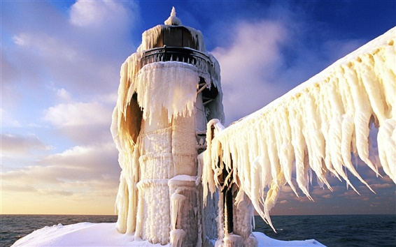 Wallpaper Frozen lighthouse