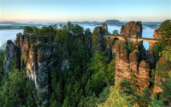 Fond d'écran Paysages à couper le souffle, des montagnes allemandes