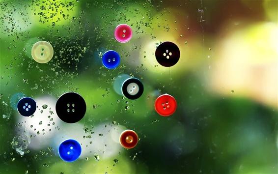 Fondos de pantalla Botones de cristal cae