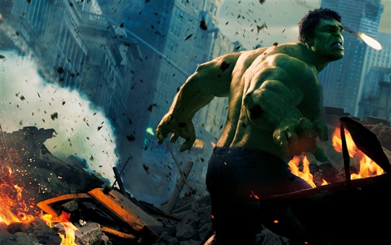 Wallpaper Hulk in The Avengers