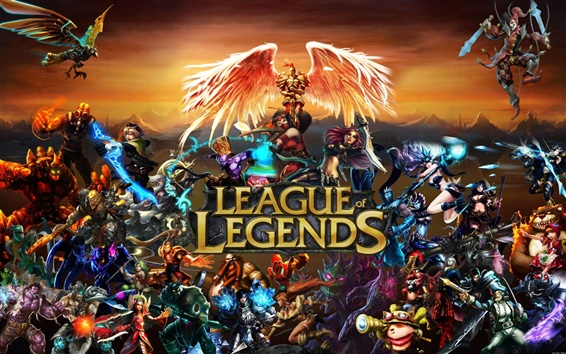 Wallpaper League of Legends wide