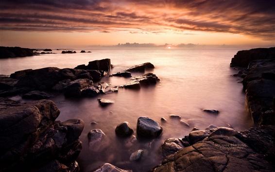 Wallpaper Magic Landscape, Coast sunset