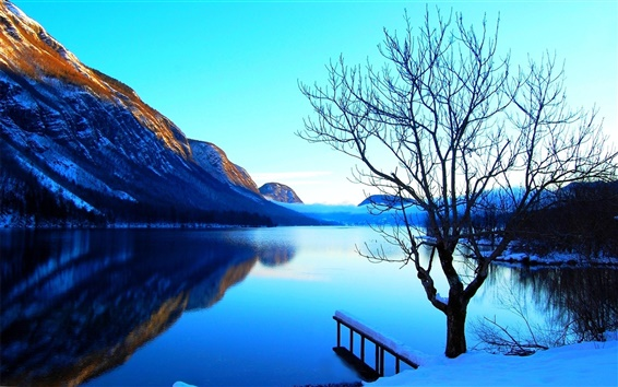 Wallpaper Pure blue lake