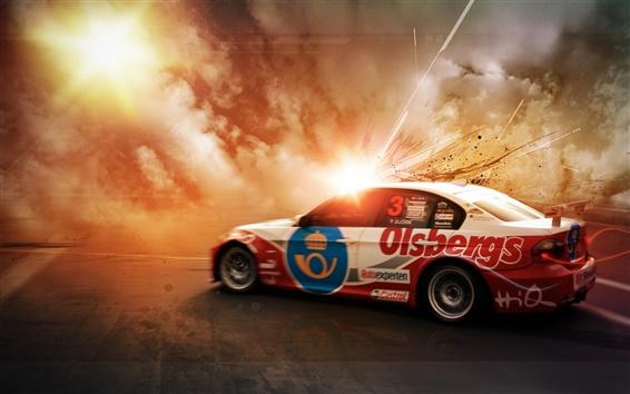 Wallpaper Race car speed