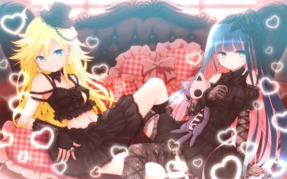 Wallpaper Romantic anime girl