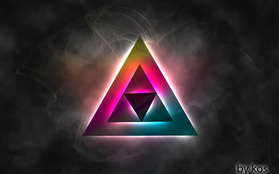 Wallpaper Triangular Ambilight