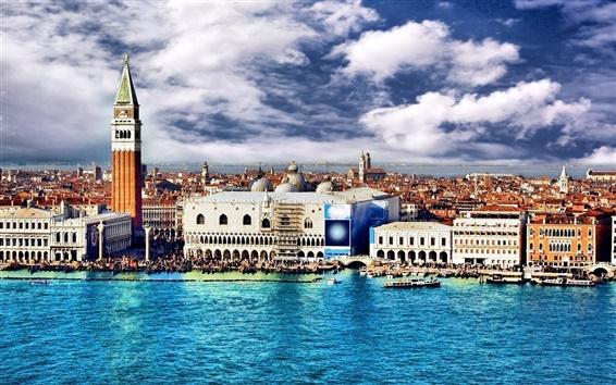Обои Венеция Италия зданий