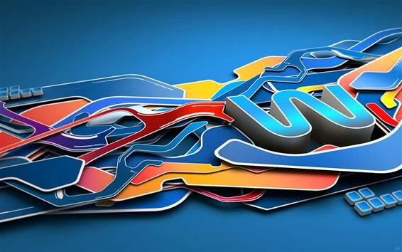Wallpaper Winter Process 3D