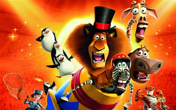 Wallpaper 2012 Madagascar 3: Europe's Most Wanted