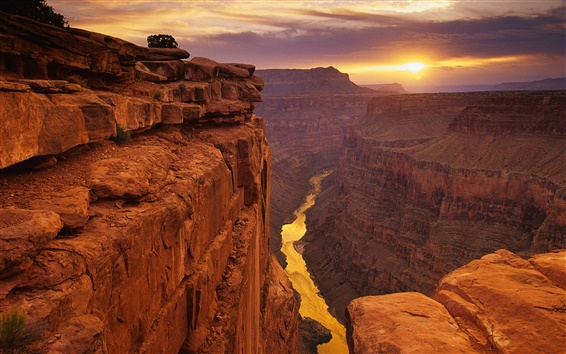 Wallpaper American landscape, canyons sunset