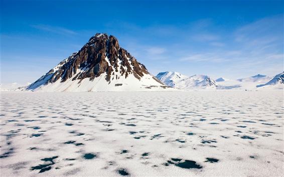Обои Арктика красоты замороженные снежные горы
