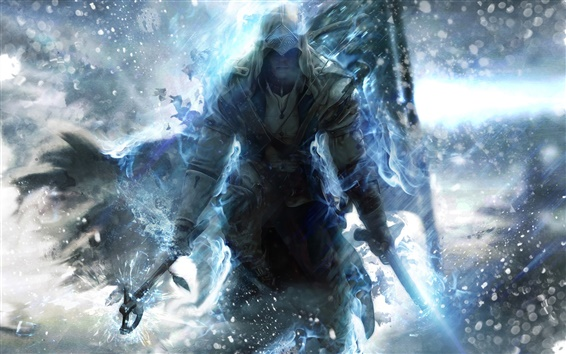 Wallpaper Assassin's Creed 3 blue style