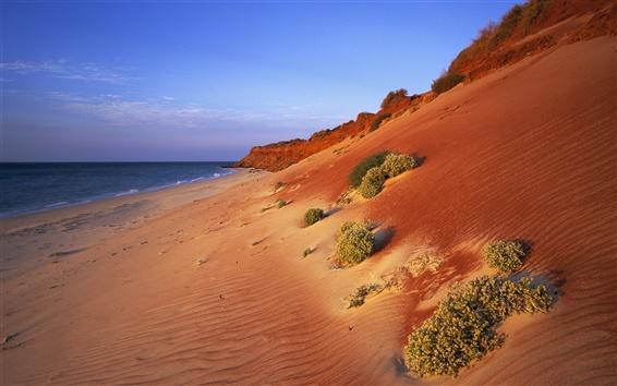 Papéis de Parede Paisagem australiana, vermelho costa